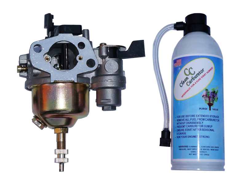Carburetor with Purge Valve + Pressurized Gas Can for snowblowers, generators, pressure washers with Honda type engines