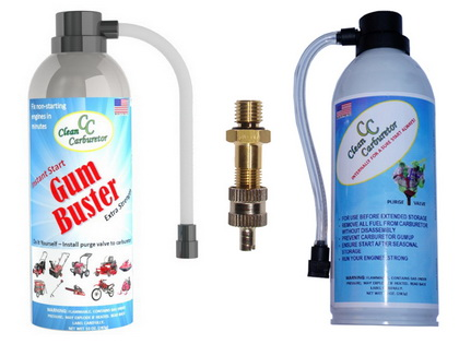 GumBuster & PurgeGas Kit for Snowblowers Pressure Washers Generators
